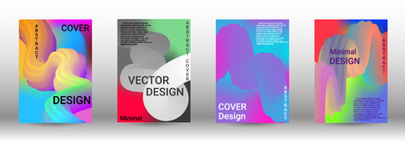 Minimum vector coverage. A set of modern abstract covers. Colorful Liquid Shapes. Abstract Background with Vibrant Gradient. Modern Color Wave Liquid.  Modern Vector Illustration. Illustration