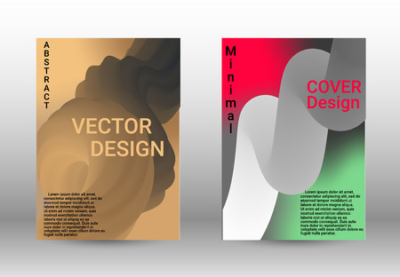 Minimum vector coverage. A set of modern abstract covers. Wave Flow Shape. Abstract 3d Background.   Modern Vector Illustration. 向量圖像
