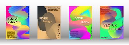 Cover design. Abstract Wave Liquid Shape. Colorful 3d Flow Design.  Modern Vector Illustration.