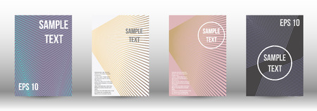 A modern cover design template. A set of modern abstract covers. Creative backgrounds from abstract gradient lines to create a trendy background for a banner, poster, booklet. Vector. Illustration