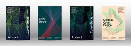 Modern design template. A set of modern abstract covers. Minimal vector cover design with abstract lines. Fashionable style.  Suitable for creating a fashionable abstract cover, banner, poster. Ilustrace