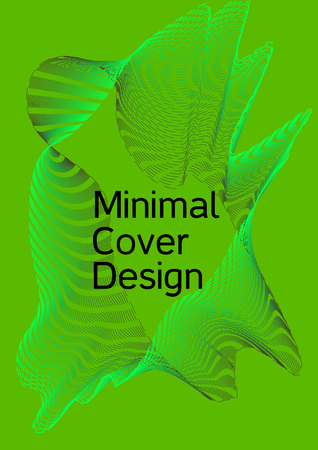 Modern design template. Creative green background from abstract lines to create a fashionable abstract cover, banner, poster, booklet. Vector illustration.