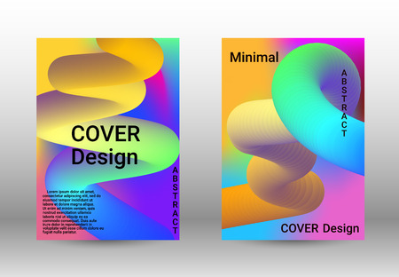 Cover design. Colorful Liquid Shapes. Abstract Background with Vibrant Gradient. Modern Color Wave Liquid.  Modern Vector Illustration.