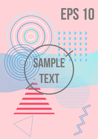 Minimum geometric coverage. Modern abstract cover from vector geometric shapes and patterns. The future template for the design of the background of albums, business brochures, banner, poster.