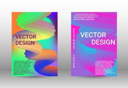 Cover design. Wave Flow Shape. Abstract 3d Background.   Modern Vector Illustration.
