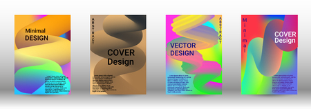Minimum vector coverage. A set of modern abstract covers. Colorful Liquid Shapes. Abstract Background with Vibrant Gradient. Modern Color Wave Liquid. Modern Vector Illustration.
