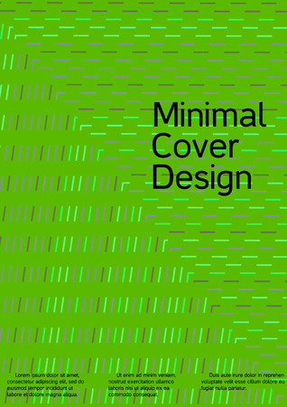 Modern design template. Creative green background from abstract lines to create a fashionable abstract cover, banner, poster, booklet. Vector illustration. EPS 10.