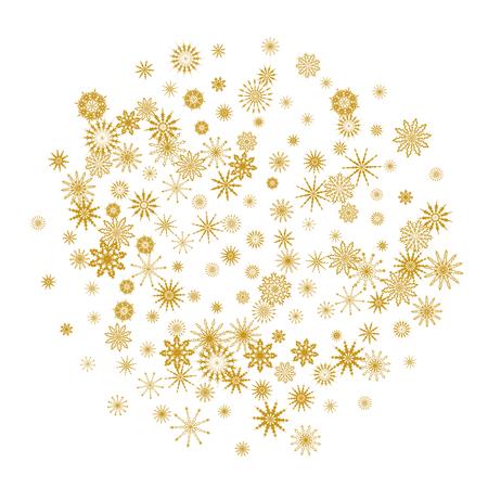 Chute de flocons de neige. Fond de vecteur d'hiver. L'effet de la décoration des flocons de neige. Vacances d'hiver. Bon pour la carte de Noël, la bannière ou l'affiche. EPS 10