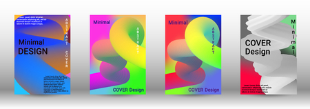 Cover design. Abstract 3d Gradient Background with Colorful Liquid. Modern Wave Flow Shape.   Modern Vector Illustration. Illustration