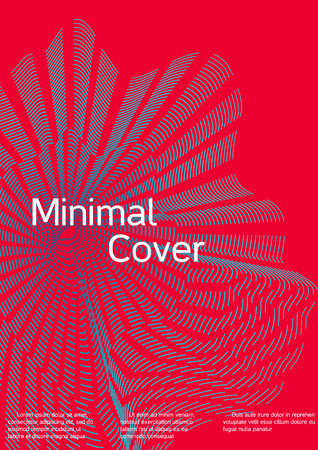 Cover design with abstract lines. Modern bright red background. Rich design of VIP. Future futuristic template for banner design, poster, booklet, report, journal. Vector. Illustration