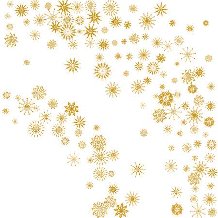 Chute de flocons de neige. Fond de vecteur d'hiver. L'effet de la décoration des flocons de neige. Vacances d'hiver. Bon pour la carte de Noël, la bannière ou l'affiche. EPS 10 Vecteurs