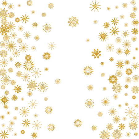 Falling snowflakes. Winter vector background. The effect of decorating snowflakes. Winter vacation. Good for Christmas card, banner or poster. EPS 10
