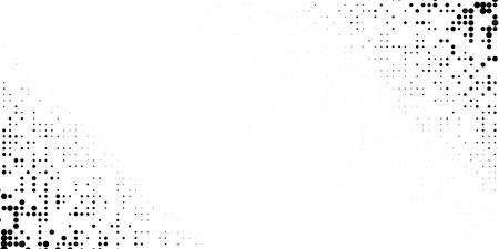 Grange halftone texture of black and white dots. Vector illustration . Minimal geometric background.  Abstract grange halftone texture. Иллюстрация