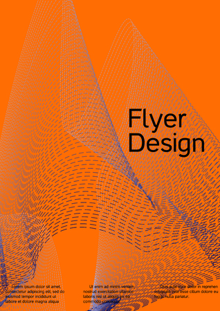 Cover design with abstract lines. Modern bright orange background. Rich design of VIP. Future futuristic template for banner design, poster, booklet, report, journal. Vector.
