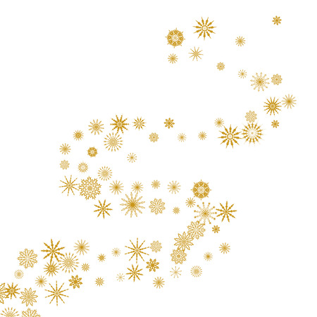 Falling snowflakes. Winter vector background. The effect of decorating snowflakes. Winter vacation. Good for Christmas card, banner or poster.