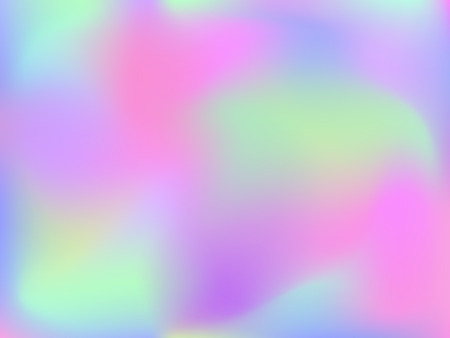 Abstract blurred gradient mesh background. Colorful smooth banner template.Trendy creative vector. Intense blank Holographic spectrum gradient for cover.