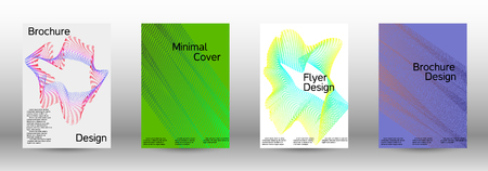 Minimal vector cover design with abstract gradient linear waves. Fashionable style.  Sound flyer for creating a fashionable abstract cover, banner,poster.