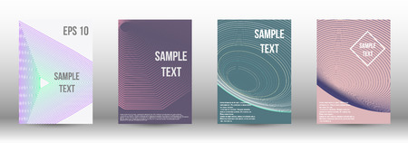 A modern cover design template. A set of modern abstract covers. Creative backgrounds from abstract gradient lines to create a trendy background for a banner, poster, booklet. Vector.