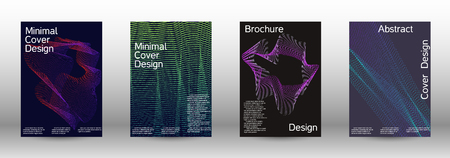 Modern design template. A set of modern abstract covers. Minimal vector cover design with abstract lines. Fashionable style. Sound flyer for creating a fashionable abstract cover, banner,poster. Ilustração Vetorial