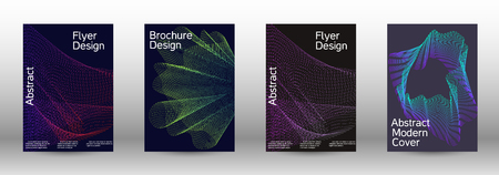 Modern design template. A set of modern abstract covers. Minimal vector cover design with abstract lines. Fashionable style.  Suitable for creating a fashionable abstract cover, banner, poster. 矢量图像