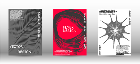 Business cover design. Abstract cover with the effect of movement and distortion. Trendy geometric patterns. EPS10 Vector Design.