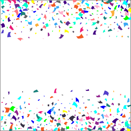 Confetti. Colorful confetti on white background. Holiday festive background. Suitable for postcard background, banner, poster, cover design.Vector. Vector Illustration