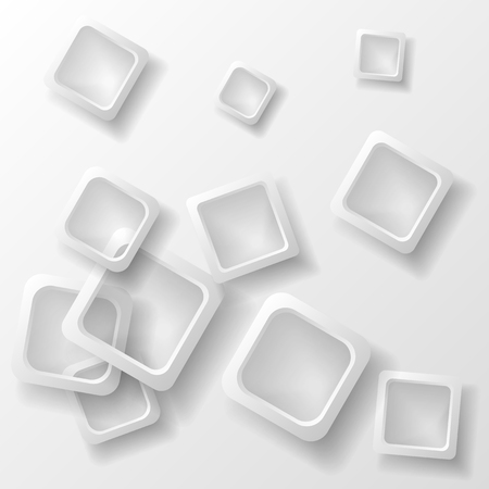 Dynamic shapes on a white background. Design for abstract geometric background consisting of dynamic shapes, intersecting shapes. Vector. Infographics Illustration