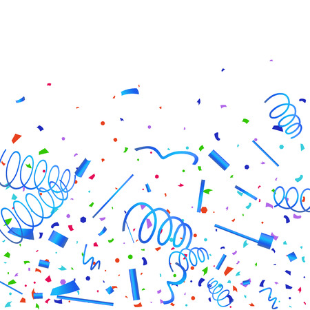 Confetti. Colorful confetti on white background. Festive festive background. Suitable for postcard background, banner, poster, cover design.