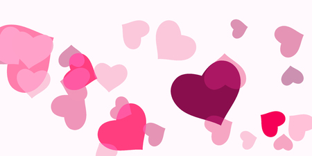 Heart confetti for Valentines Day. The concept of festive decoration. Fashionable color concept. Trendy pink background in the shape of pink heart confetti for womens day.
