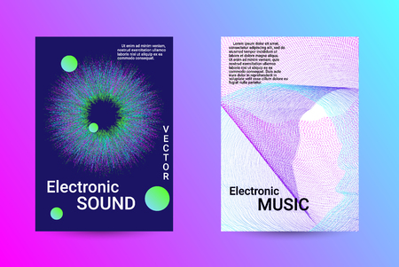 Minimum coverage of a vector. A set of modern abstract backgrounds with abstract gradient linear waves. Sound flyer for creating a fashionable abstract cover, banner, poster, booklet. Reklamní fotografie - 125341396