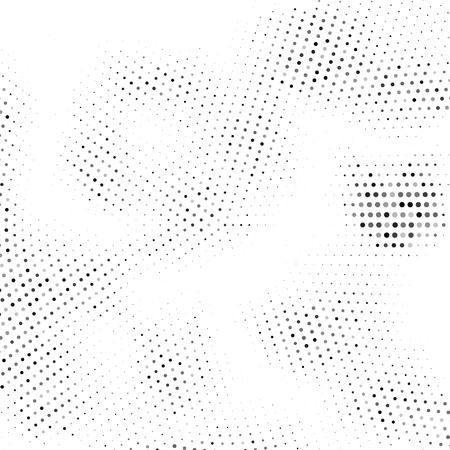 Vector halftone texture. Abstract halftone texture with dots. Black and white minimal abstract background. Illustration