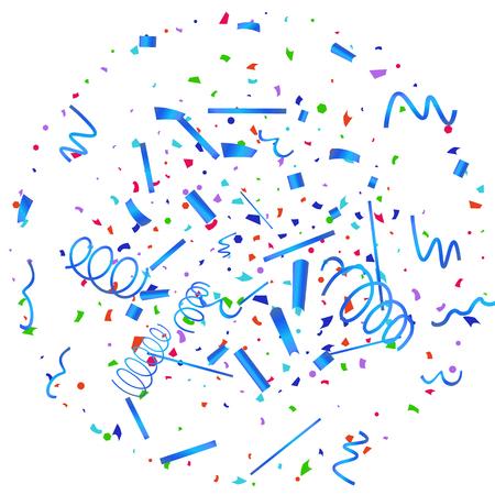 Confetti. Colorful confetti on white background. Festive festive background. Suitable for postcard background, banner, poster, cover design.