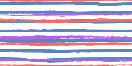 Color Strips. Simpless. Watercolor Striped Fashion Print Design. Hand Drawn Lines in Watercolor Style. Grunge Stripes with Painted Brush Strokes. Suitable for Textile Printing, Packaging.