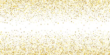 흰색 바탕에 황금 반짝이 색종이. 빛나는 입자 한 방울의 그림입니다. 장식 요소입니다. 디자인, 카드, 초대장, 선물, VIP를 위한 고급 배경입니다. 벡터 (일러스트)
