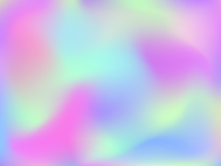 Abstract blurred gradient mesh background. Colorful smooth banner template.Trendy creative vector. Intense blank Holographic spectrum gradient for cover. Stock Illustratie
