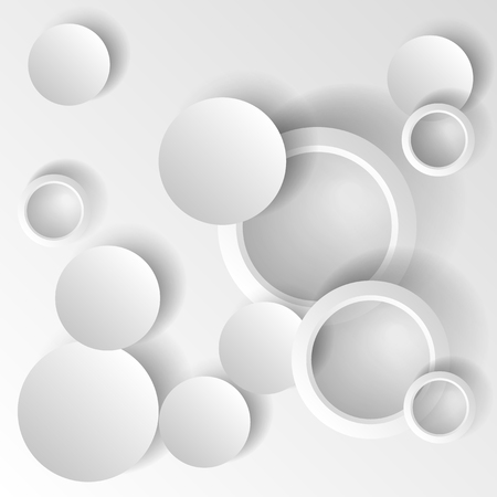 Dynamic shapes on a white background. Design for abstract geometric background consisting of dynamic shapes, intersecting shapes. Vector. Infographics
