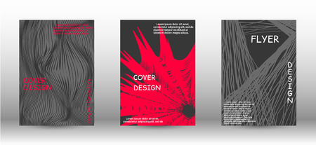 Minimal vector coverage. A set of trendy covers. Abstract cover with the effect of movement and distortion. Trendy geometric patterns. EPS10 Vector Design.