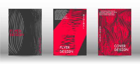 Business cover design. Wave lines.Striped background. Trendy geometric patterns. EPS10 Vector Design.