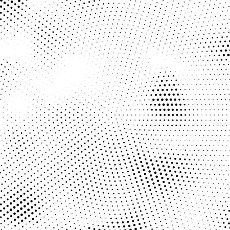 Vektor-Halbton-Textur. Abstrakte Halbtonbeschaffenheit mit Punkten. Minimaler abstrakter Schwarzweiss-Hintergrund.