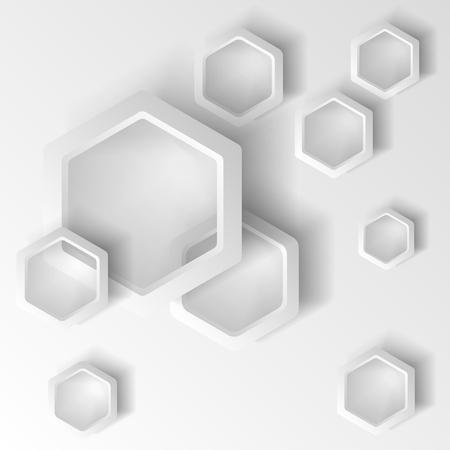Dynamische Formen auf weißem Hintergrund. Design für abstrakten geometrischen Hintergrund, bestehend aus dynamischen Formen, sich überschneidenden Formen. Vektor. Infografiken