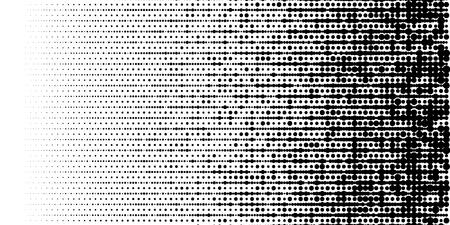 Grange halftone texture of black and white dots. Minimal geometric background. Vector illustration. Abstract grange halftone texture.