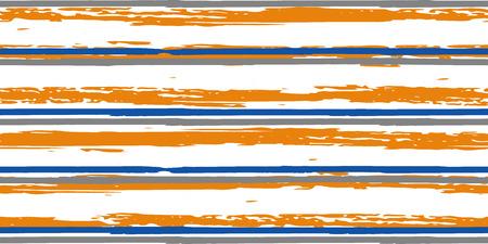 Tiras de colores. Simpless. Acuarela de vector. Líneas dibujadas a mano en estilo acuarela. Textura Grunge. Adecuado para impresión textil, embalaje. Ilustración de vector