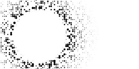 Grange halftone texture of black and white dots. Minimal geometric background.  Vector illustration . Abstract grange halftone texture.