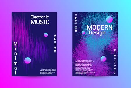 Music Cover design. A set of modern abstract backgrounds. Abstract party posters. Futuristic wave patterns are distorted with dotted lines. Techno Music Festival Advertising. Dance party background. 일러스트