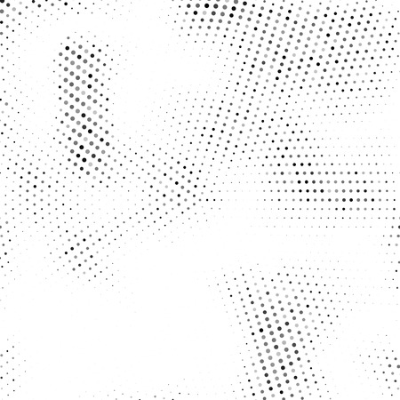 Abstract halftone dots. Halftone dots pattern. Black and white minimal abstract background.