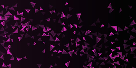 Triangle background. Abstract composition of triangular crystals. Futuristic geometric background.  3D vector illustration . Mangent  three-dimensional  triangular crystals in space.