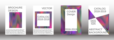 Flowing backgrounds as a modern template for design. Creative fluid backgrounds from current forms for the design of fashionable abstract covers, banners, posters, booklets. Vector illustration