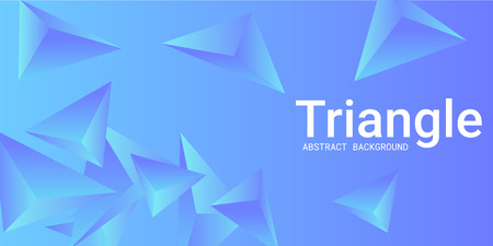 Triangle background. Abstract composition of triangular pyramids. 3D vector illustration . Creative geometric background.  Blue  three-dimensional triangular pyramids in space.