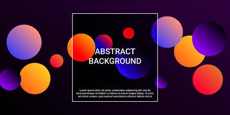 Balls shapes. Creative design of coverages. Vector geometric illustration. Halftone, 3d. Abstract background of  violet, orange, red  balls shapes. 일러스트