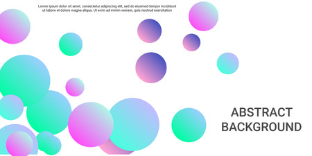 Colored balls. Creative design of coverages. Vector geometric illustration. Halftone, 3d. Abstract background of  pink, blue, green  colored balls.
